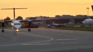 Samolot uszkodzony podczas lądowania