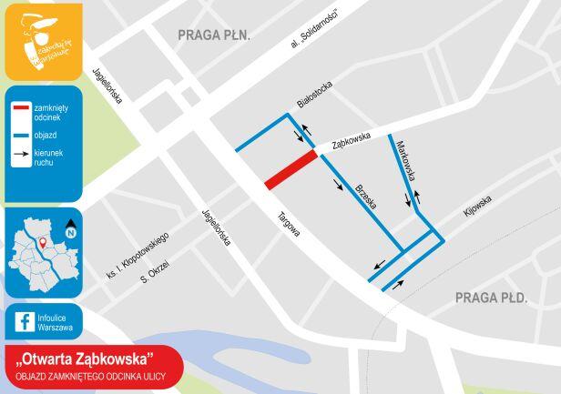 Otwarta Ząbkowska - zmiany w ruchu UM