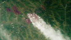 Ogień trawi Syberię (PAP/EPA/ROSCOSMOS HANDOUT)