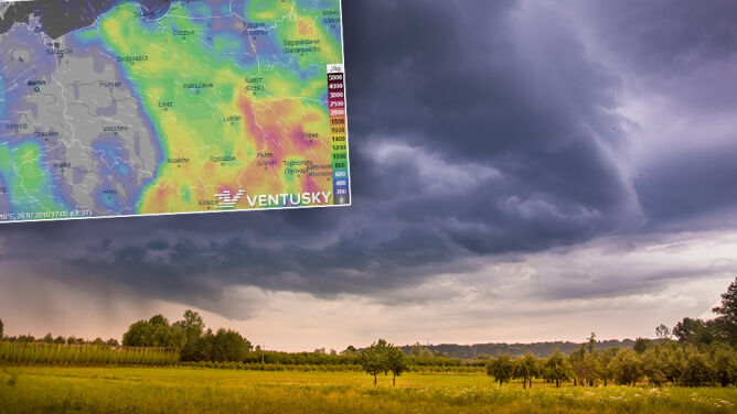 Porywisty wiatr, deszcz i grad. <br />Do gorąca dołączą burze