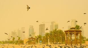 Burza piaskowa w Kuwejcie (PAP/EPA/NOUFAL IBRAHIM)