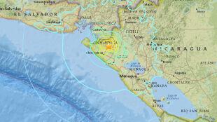 Dwa silne trzęsienia ziemi. Epicentra w Oceanii i Nikaragui