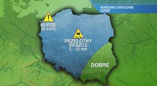 Warunki drogowe w piątek 21.05