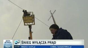Awarie sieci energetycznej na południu Polski (TVN24)