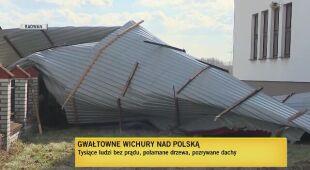 Skutki wichur w Małopolsce i Opolszczyźnie