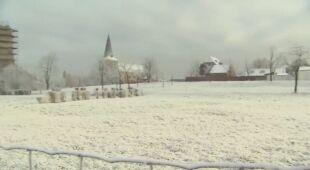 """Część Belgii pokrył """"brudny śnieg"""""""