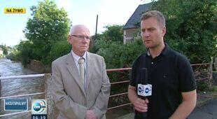 Starosta złotoryjski o zniszczeniach w dolinie Kaczawy (TVN24)